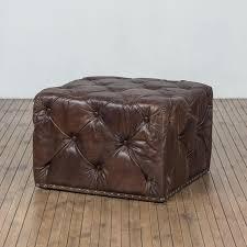 Bernhardt Ottoman Bernhardt Colston Square Ottoman Upholstered Accents B Leather