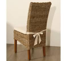 chaise tress e lot de 2 chaises en kubu tressé 1108