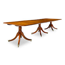 M S Dining Tables Georgian Three Pedestal Dining Table Furnishing Since 1912