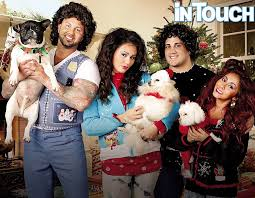 snooki and jwoww dress up in ugly christmas sweaters for holiday