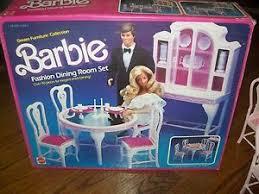 barbie dining room set barbie vintage 1984 dream furniture fashion dining room set rare