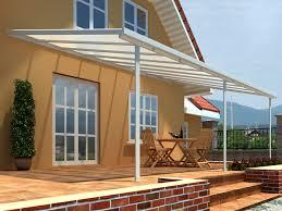 tettoie per terrazze casetta per terrazzo addossata alluminio fortaleza bianco