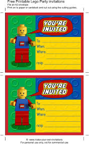 Make Birthday Invitation Cards Online For Free Printable Best 25 Lego Birthday Invitations Ideas On Pinterest Lego