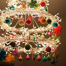 Diy Ball Chandelier 17 Gorgeous Christmas Chandeliers For A Yuletide Home Decor