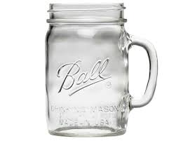 ball mason ball 24oz wide mouth drinking mason jar with handle