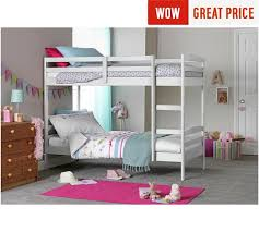 Buy HOME Josie Shorty Bunk Bed Frame White At Argoscouk Your - White bunk beds uk