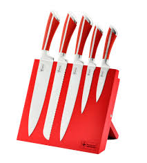 5 pcs non stick coating knife set with stand rl mg5r royalty line
