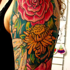 dotwork flower tat tattoo floral stomach tattoo on tattoochief com
