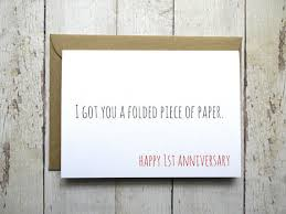 anniversary card 1st anniversary card for