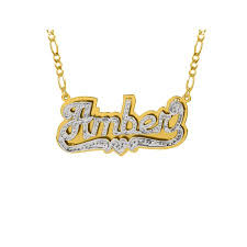 nameplate necklace gold personalized sterling silver or gold plated nameplate