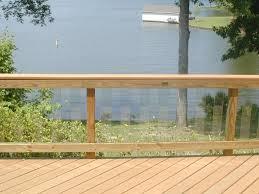 amazing glass deck railing doherty house modern glass deck