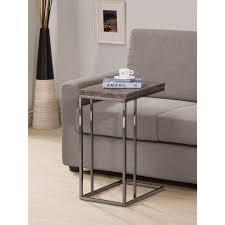 coaster furniture weathered grey flip top end table hayneedle