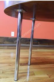 round metal table legs 4 polished chrome round metal end accent table legs modern 53003
