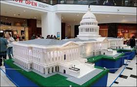 shopping mall in boise id boise towne square large models of landmarks made with lego bricks on display at