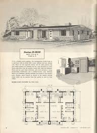 1950s house floor plans inspirational vintage house plans 196