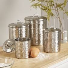 kitchen decorative canisters metal kitchen canisters jars you ll wayfair