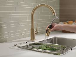 Hands Free Kitchen Faucet Delta Faucet 9159 Cz Dst Trinsic Single Handle Pull Down Kitchen