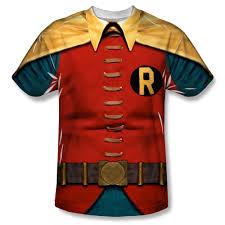 dc comics robin costume sublimation t shirt batman tv