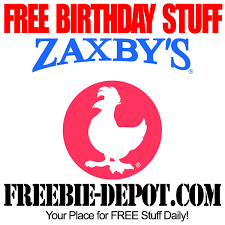 zaxby s birthday freebie zaxby s free bday chicken sandwich freebie depot