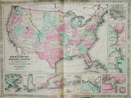 Maps Of United States by Map Of The United States 1863