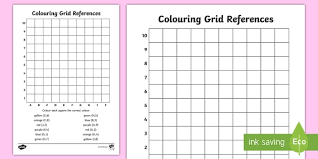 colouring grid references worksheet coordinates coordinates