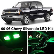 chevy silverado interior lights amazon com ledpartsnow chevy silverado 1999 2006 green premium led