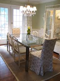glass parsons dining table dining room modern crystal chandelier combine with glass dining