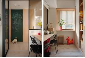 study interior design minuet neutral functional small apartment with cheerful notes