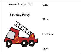 fire truck printable birthday party invitations u2013 bagvania free