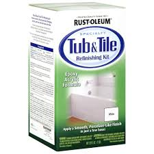 Best Way To Refinish Bathtub Rust Oleum Specialty 1 Qt White Tub And Tile Refinishing Kit