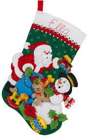 bucilla christmas santa and snowman bucilla christmas kit christmas