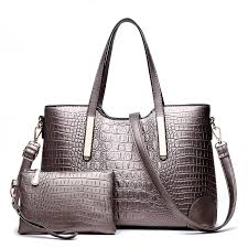 sunas women fashion pad lock satchel handbags with wallet designer