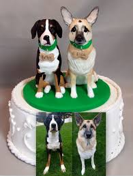 custom wedding cakes custom wedding cake topper german shepherd greater swiss