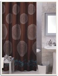 Chocolate Brown Shower Curtain Curtains White And Brown Shower Curtain Aidasmakeup Me Amazing
