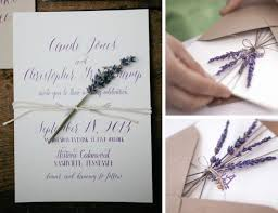 lavender wedding invitations invitations with dried flowers weddings do it yourself