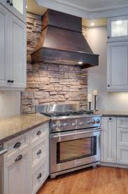 exellent stone veneer kitchen backsplash best images about