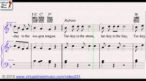 turkey in the straw from thanksgiving collection clarinet and