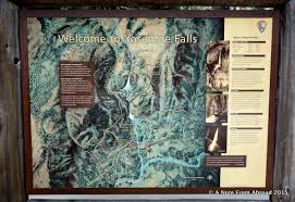 Map Of Yosemite Yosemite Falls And Ahwahnee Hotel A Note From Abroad