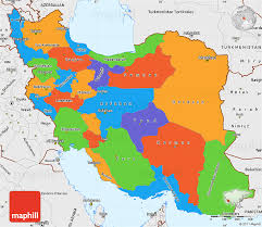 map iran political simple map of iran single color outside borders and labels