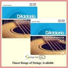 d addario ej16 phosphor bronze light acoustic guitar strings 9 sets d addario ej16 phosphor bronze light acoustic guitar strings
