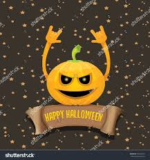 small halloween emoticons transparent background vector halloween funky rock n roll stock vector 702236239