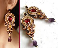 soutache earrings cool soutache earrings handmade earrings embroidered