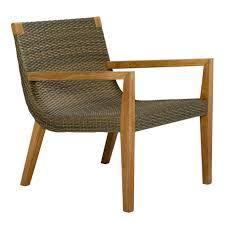 Teak Patio Dining Set - quinta teak u0026 woven lounge chair janus et cie furnish out