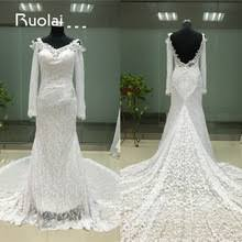 Long Sleeve Lace Wedding Dress Open Back Popular Lace Open Back Long Sleeved Wedding Dress Buy Cheap Lace