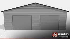 two car garage 30 u0027 x 40 u0027 x 9 u0027 vertical roof shop metal garages