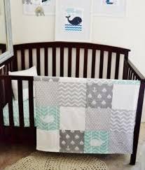 Grey And White Crib Bedding Nautical Crib Bedding Sets Foter