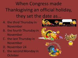 thanksgiving quiz ppt
