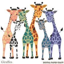 giraffe clipart hand drawn printable giraffe digital download