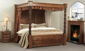 Wood Canopy Bed Frame Bed Wood Canopy Bed Frame