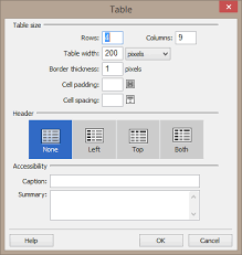 Table Size Webaim Creating Accessible Web Content In Dreamweaver